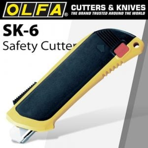 Olfa safety knife auto retract + 3 extra blades(CTR SK6)