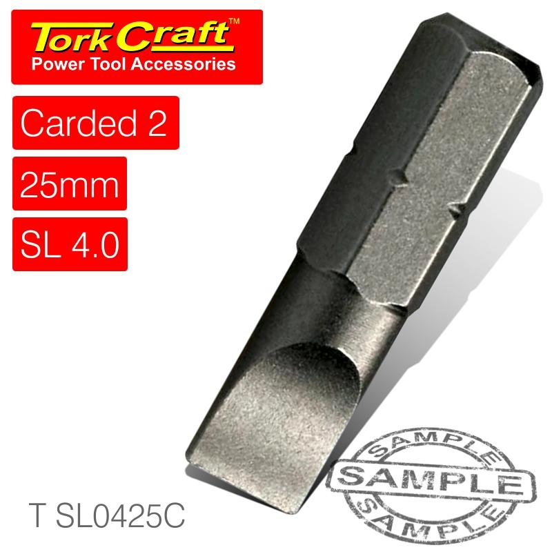 S/d insert bit 4mmx25mm 2/card(T SL0425C)