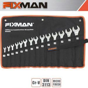Fixman 14pcs combination spanner set 8mm - 24mm(FIX B0909)