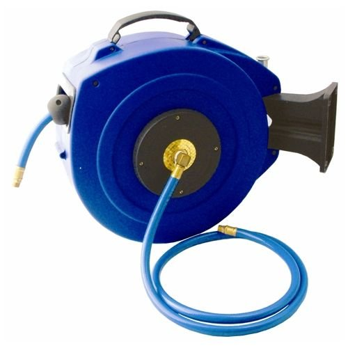 Air hose reel 15m x 9.5mm(3/8) pu hose  p/p casing wall mounted(HR20215)