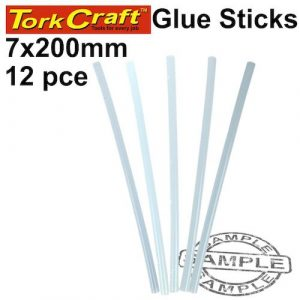 Glue Stick 07 X 200mm 12Pc Hot Melt Gen. Purpose Eva 18000Cps (TCGS07200-01)