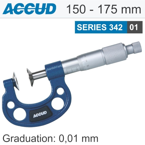 Non rotating spindle disk micrometer 150-175mm