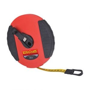 Measuring tape fiberglass 30m x 13mm heavy duty abs case