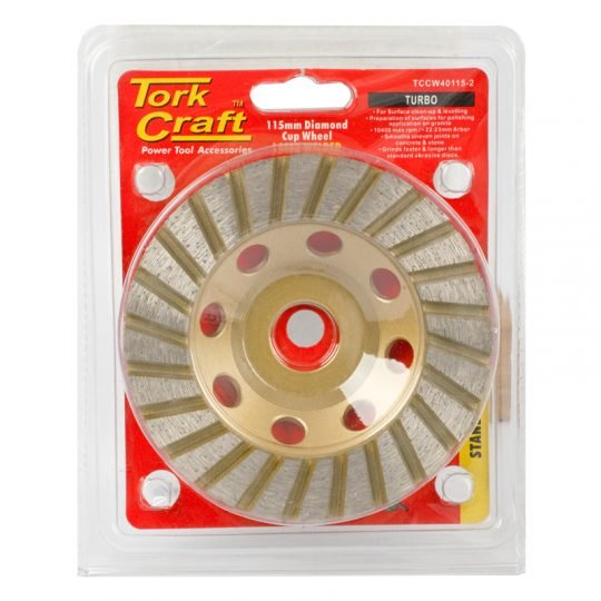 Dia. cup wheel 115 x 22.23mm turbo laser welded